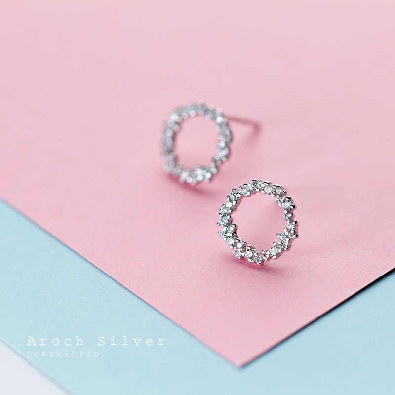 Real prata cor redonda círculo brincos para casamento feminino jóias pendientes