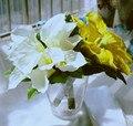 Искусственный Калла Лили Букеты Фиолетовый Королевский Синий Свадебные Букеты Свадебные Брошь Букет Желтый Букет Де Mariage
