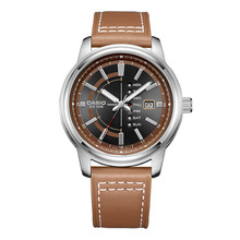 6e7260e1b61 Casio Relógio De Luxo Mens Couro Moda Casual Relógio de Quartzo dos homens  Relógios de Pulso
