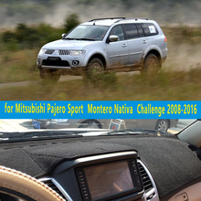 Dashmats-car styling acessórios do carro tampa do painel para o Esporte Mitsubishi Pajero Montero Nativa Desafio 2008-2016