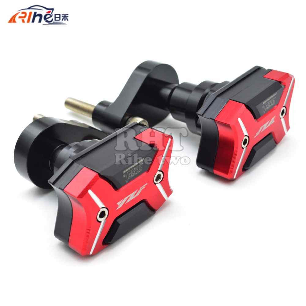 With YZF logo Motorcycle Frame Crash Pads Engine Case Sliders Protector Motorcycle Frame Slider For Yamaha YZF R1 2007 2008 with yzf logo motorbike frame slider motorcycle frame crash pads engine case sliders protector for yamaha yzf1000 r1 2015 2016