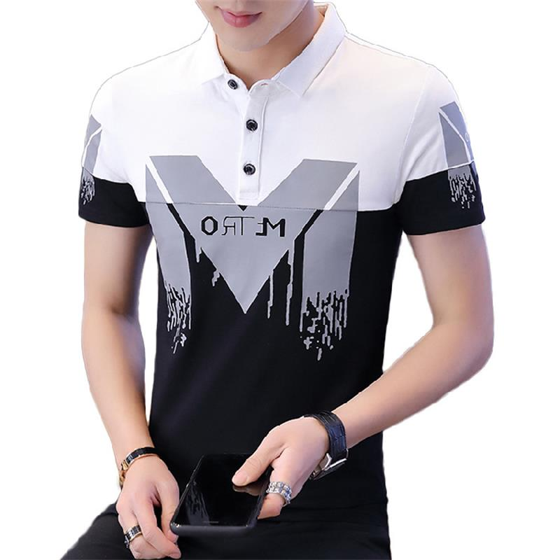 2019 Striped   Polo   Shirt brands Man Cotton Summer Breathable Anti-Wrinkle Slim Business Top Casual Hip Hop Streetwear Hot Sale