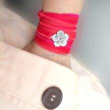 Silk wrap bracelet Ibiza yoga boho hippie gypsy