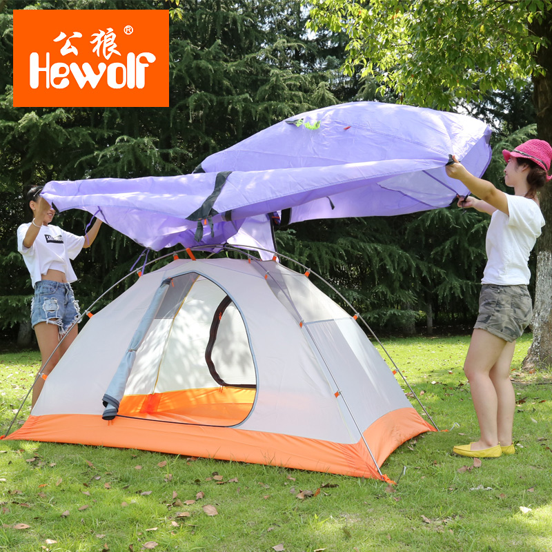 Good Quality Outdoor Camping Tent Ultralight Gazebo Summer Sun Shelter Awning Tent Winter Tents Double Layer 2 Person 4 Season outdoor summer tent gazebo beach tent sun shelter uv protect fully automatic quick open pop up awning fishing tent big size