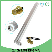 2.4g 20pcs 2.4GHz 5GHz 5.8Ghz Antenna real 8dBi RP-SMA Dual Band wifi Antena aerial SMA female +21cm RP-SMA Pigtail Cable 2 4g 5 8g 6dbi omni wifi wlan antenna dual band rp sma extension cable length 2m penalty felt thread marvel