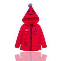 Hot Sale 4-12T Kids Thickening Coat Warm Parkas Girl Jacket Winter Cartoon Witch Hooded Feather Outerwear Long Zipper Down Coat
