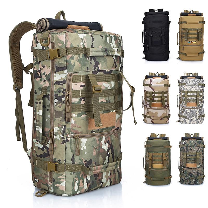 Hommes femmes alpinisme sac à dos militaire tactique Camouflage sac extérieur Camping randonnée Trekking étanche 50 L femme voyage