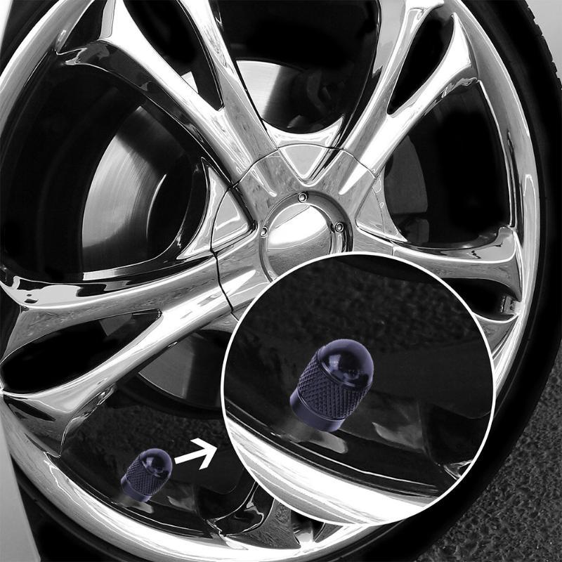 4 Aluminum Alloy Bullet Tyre Tire Wheel Dust Stem Valve Caps Car Bike Motorcycle