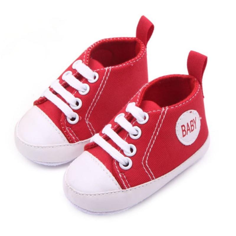 Nyfødt 0-12M Blødt spædbarn Nyfødt Baby Boy Girl Kid Soft Sole Sko Sneaker Newborn