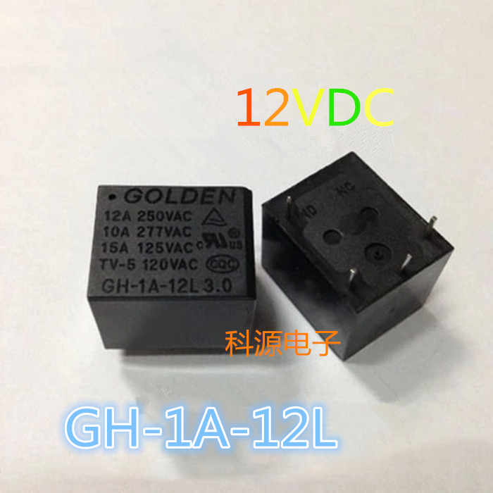 GH-1A-12L 3.0 Relay 12VDC GOLDEN Relay 4-pin GH-1C-12L