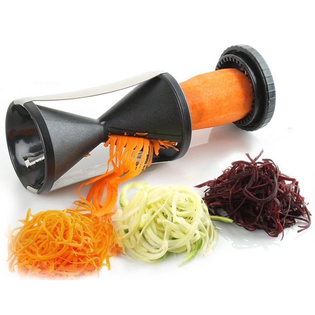 Moda Espiral máquina de Cortar Vegetal Fruta Twister Cortador Peeler de Cocina H