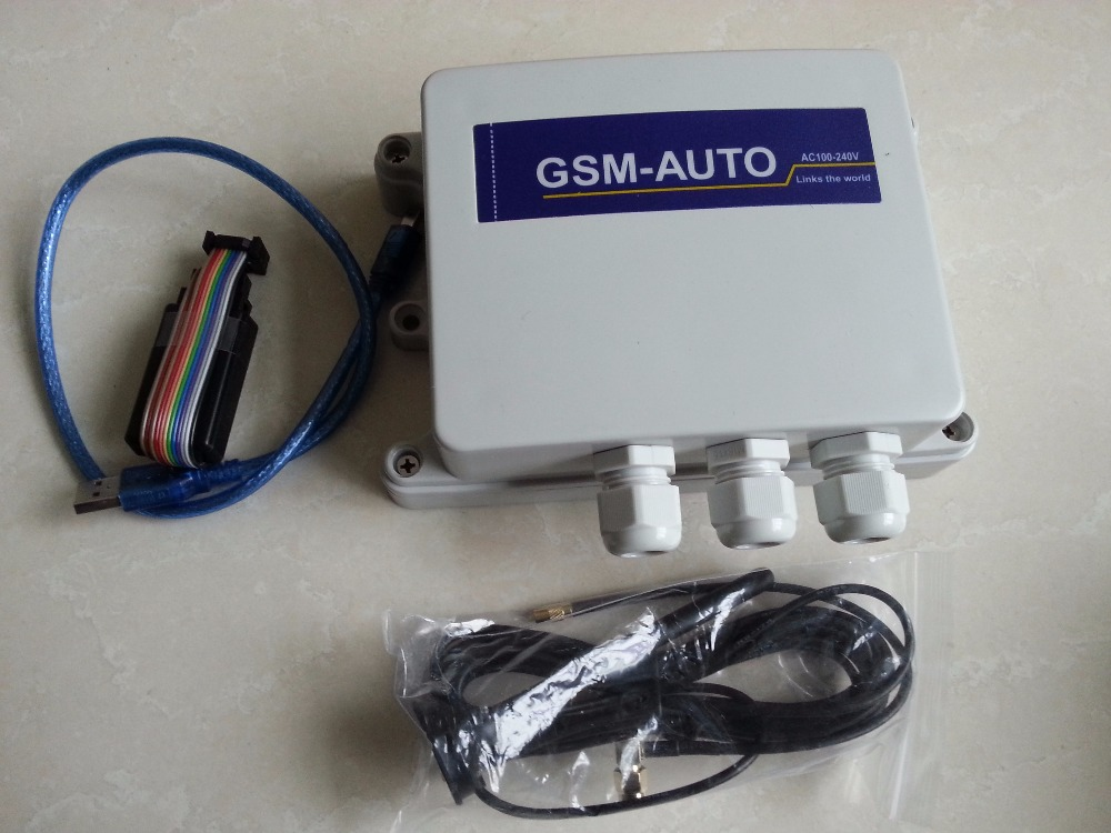 ФОТО IP65 outdoor external GSM SMS remote control switch gate door opener AC power quad band two relays