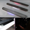 For BMW Z4 E89  car light LED Moving front door scuff sticker Sill Plate pedal protector styling