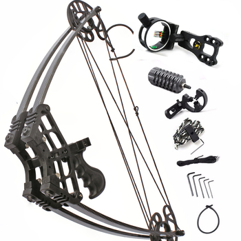 50lbs Compound Bow Archery Hunting Triangle Bow for Hunting Shooting Let-off 75-80% Suit For Left Hand and Right Hand Bow Arrow