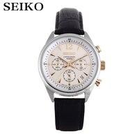 Часы Seiko Sportura серии Япония оригинальные многофункциональные тайминг кварцевые мужские часы SNAE69J1 SSB027J1 SSB069J1