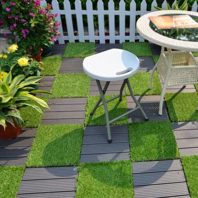 Enipate Gr Tile Series Pp Interlocking Deck Tiles Artificial Anti Wear Turf Garden Decking 30 2 6cm