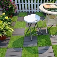 Telha artificial do decking do jardim das telhas do relvado 30*30*2.6cm dos pp da série da telha da grama de enipate que bloqueia as telhas da plataforma da grama tile tiles garden   -