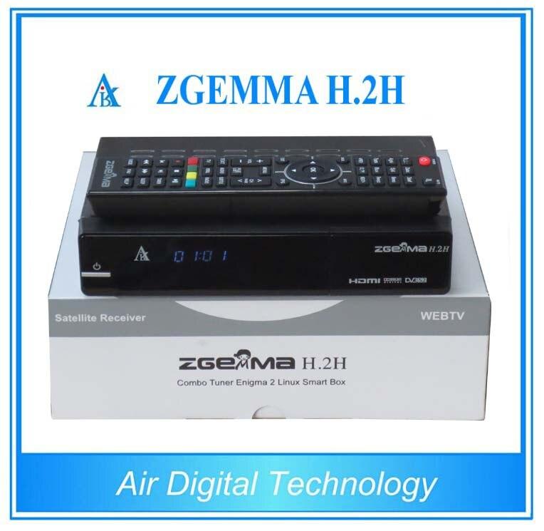 2pcs New Version Zgemma H.2H Dual Core Combo DVB-S2+DVB-T2/C Hybrid USB WIFI Linux E2 HBBTV Receiver