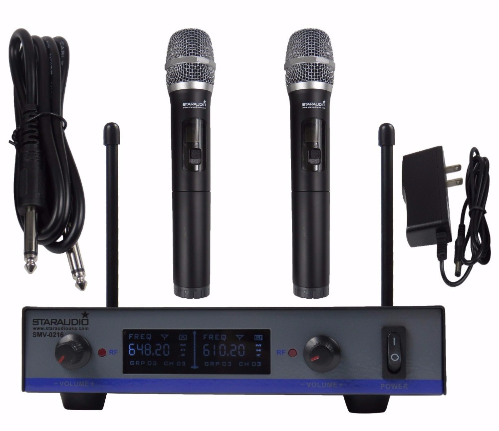 STARAUDIO 2 Channel UHF Wireless DJ Stage Church Club Karaoke Dynamic Handheld Microphone System Mic  SMU-0216A towards chereme based dynamic sign language gesture recognition system