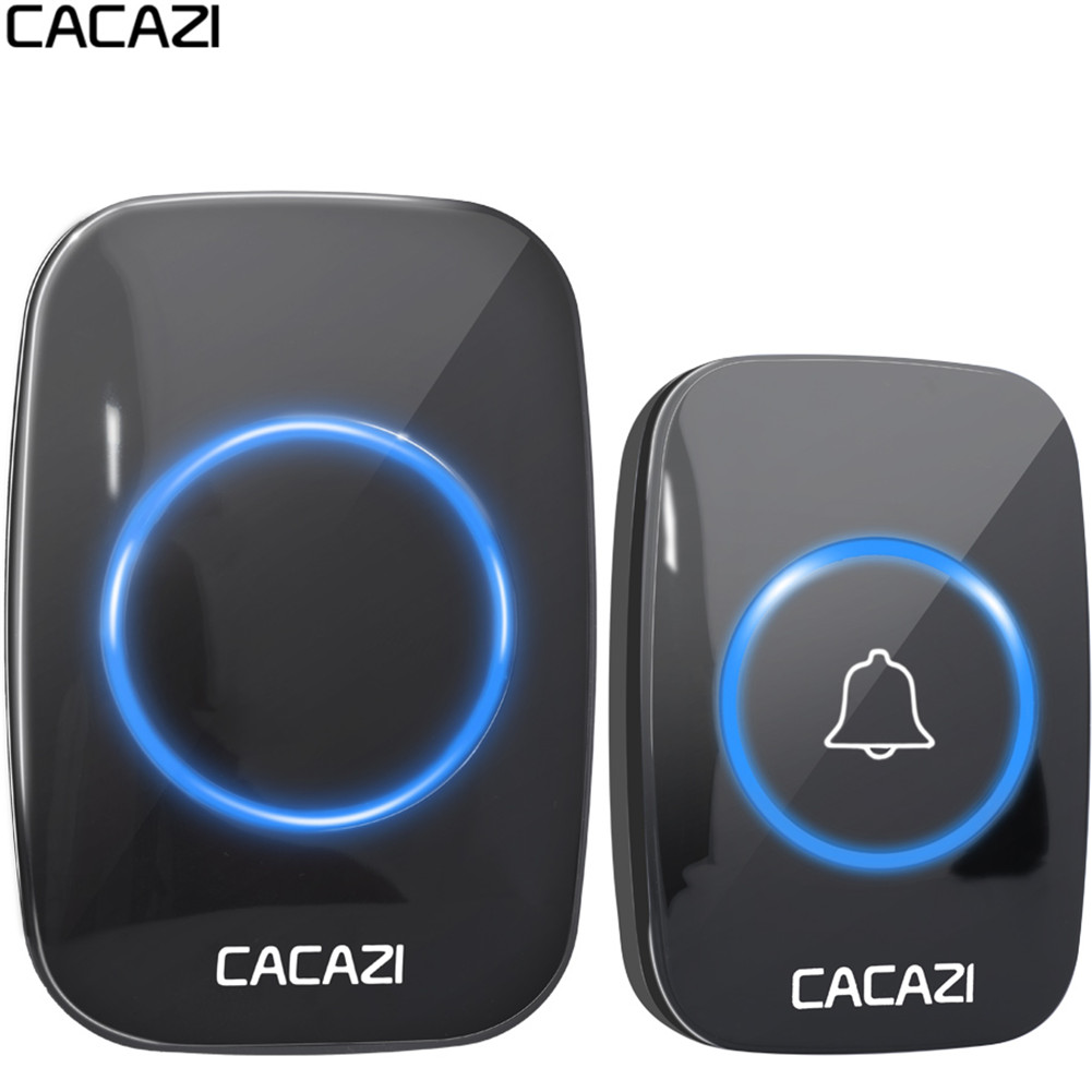 CACAZI 60 chime Wireless Doorbell ring 300M Remote EU AU UK US Plug home smart Door Bell 110V 220V 1 button 1 receiverCACAZI 60 chime Wireless Doorbell ring 300M Remote EU AU UK US Plug home smart Door Bell 110V 220V 1 button 1 receiver