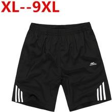 Männer elastische taille schließt plus große größe männer sommer licht casual beach boardshorts gasp casual shorts männer 5xl 6xl 7xl 8xl 9xl