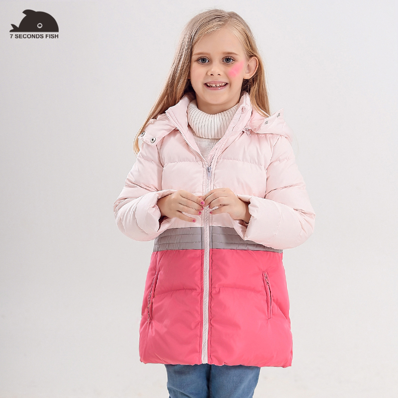 kids Down Jackets 2018 new style girl jacket white duck down removeable cap girls winter clothing thick warm girl down coat russia winter boys girls down jacket boy girl warm thick duck down