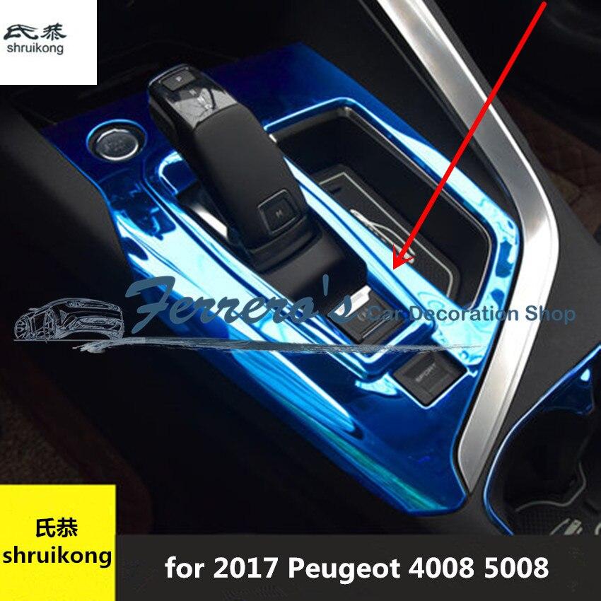 Acero Peugeot Envío Inoxidable Pegatina 5008 Unidad Para 4008 2017 De 1 Accesorios Coche Gratis E2HYW9ID