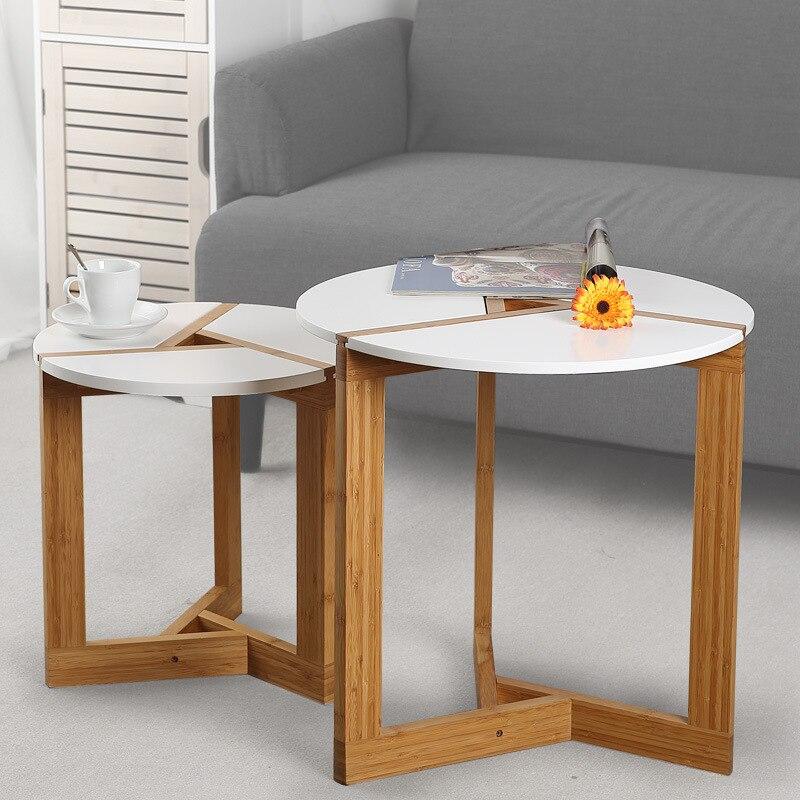 LANSKAYA Creative Modern Bamboo Coffee Table Side Table ...