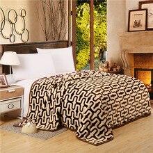 Breve estilo de moda impreso diseño curva manta en la cama lanza para el sofá full twin queen size súper suave casa mantas