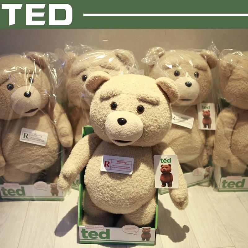 Free shipping 40cm Ted 16-Inch R-Rated Talking Plush Teddy Bear,,swearing or standard version teddy bear c h3 r yellow