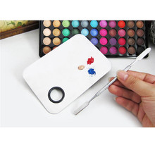Makeup Palette Beauty Stainless Makeup Nail Eye Shadow  Foundation Mixing Palette Spatula Cosmetic Tool