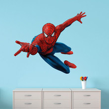 60x90 cm DIY 3D Spiderman Wand Aufkleber Abnehmbare Wand Aufkleber Decals Wandbild Kunst Batman Hero Poster Für Kinder room Home Decor(China)