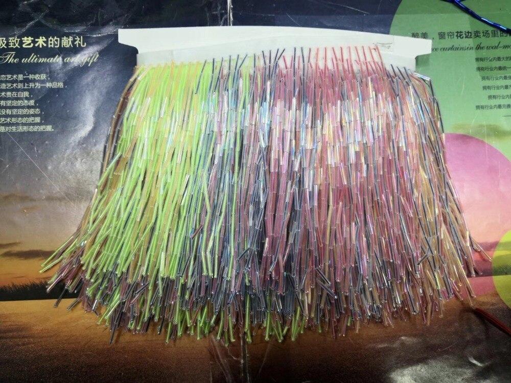 Bunte JIANXI.C 4912 super qualität perlen Fringe Band Trim Fringe Quaste Spitze Trim für kleid dekoration-in Spitze aus Heim und Garten bei  Gruppe 1