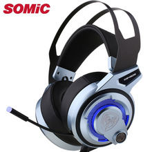 Gaming Headphone 7.1 sound Headset Earphones USB with Mic Microphone PC Bass Stereo Laptop