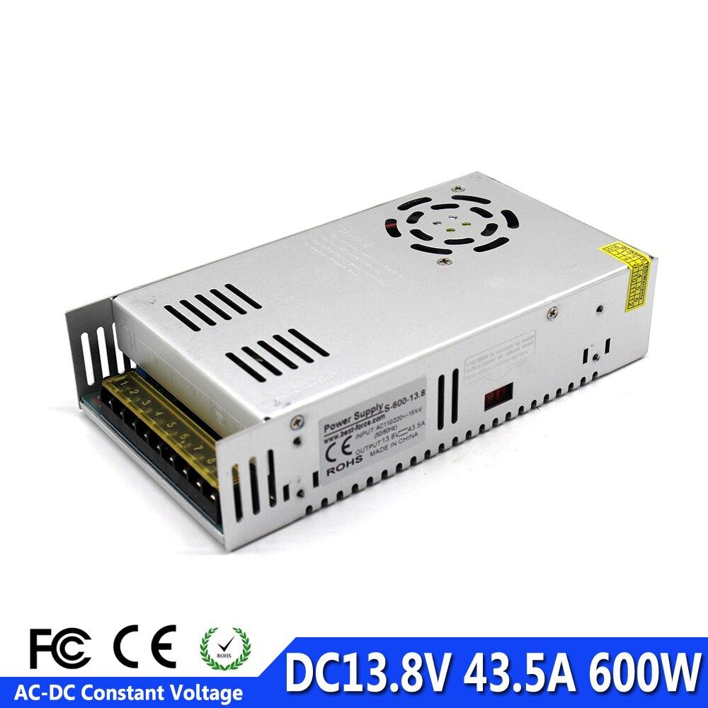 Small Volume Single Output 13 8V 43 5A 600W Switch power supply Transformers 110V 220V AC