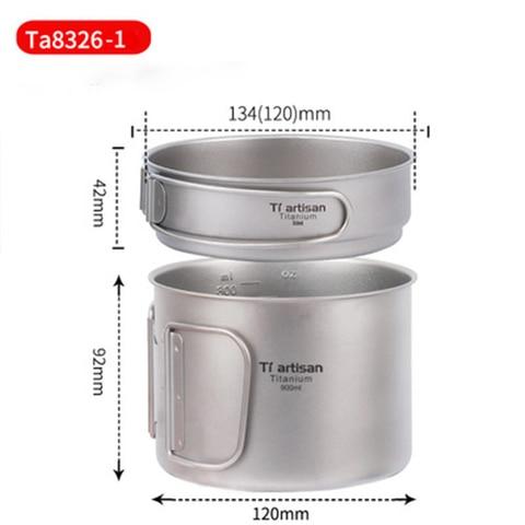 ml e 350 ml pot fry pan com dobradura punho ta8326