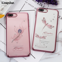 KINGXBAR for iPhone 8 Plus 7 Plus Case Swarovski Crystal Diamond Luxury Rhinestone Case for iPhone 7 Plus Cover Fundas Coque(China)
