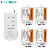 Free shipping Y F211B 3105W 1N4 220V 433mhz Four Ways Wireless Digital ON/OFF Remote Control Switch With 4 Receivers 110V