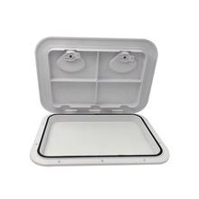 White ABS Marine rectangle deck cover hand hole boat porthole storage box for RV Boat Yatch 460*510MM
