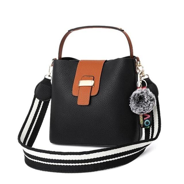 513ce79cad0b Women Bucket Leather Handbag High Quality 2018 New Ladies Brand Design  Small Shoulder Crossbody Bag Womens