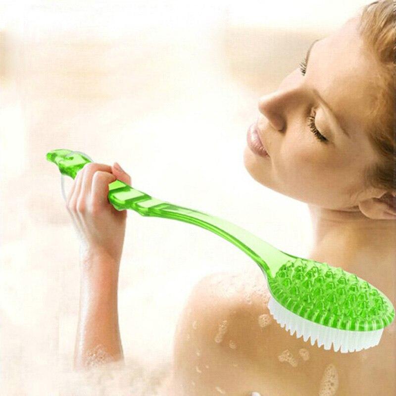 Bath Brush Long Handle Exfoliating Back Brush Body Scrubber Shower Bath Brushes Rubbing Scrubber Spa Massager Bathroom Products