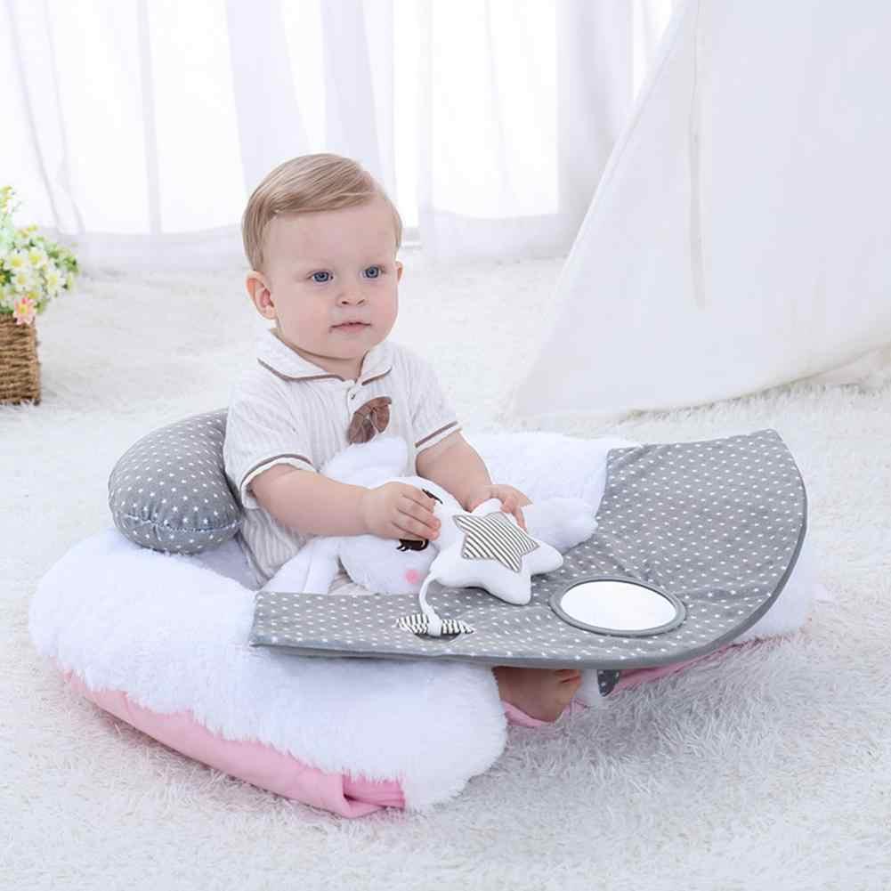 Lindo conejo blanco bebé asiento de bebé juguete de peluche bebé sofá asiento cojín de seguridad sofá apoyo asiento silla