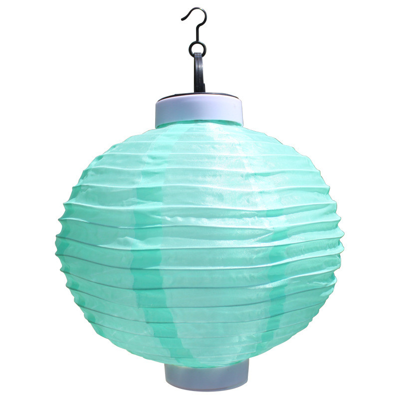 Solar powered hanging lantern light Waterproof Chinese Nylon Fabric lantern for Wedding Party home garden Decoration