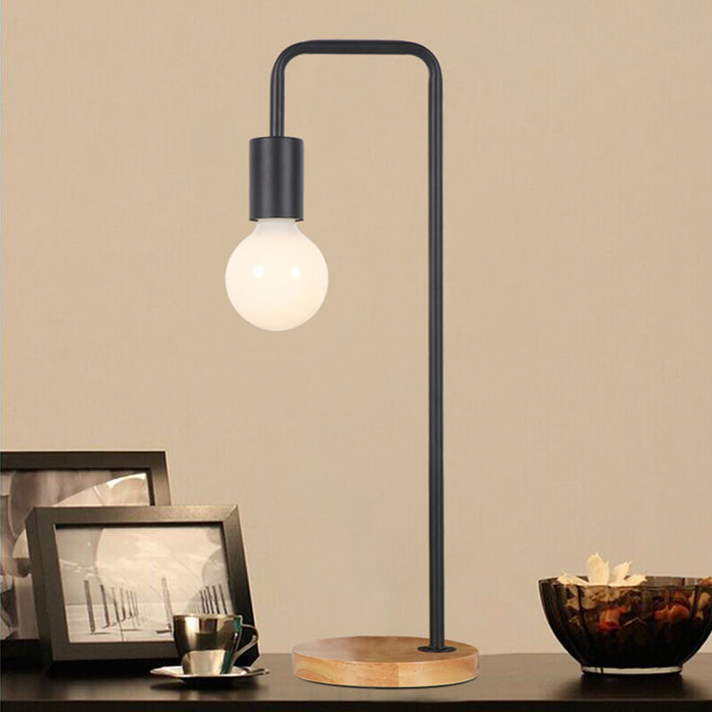 American Decoration Simple Iron Desk Light Warm Household led Lamp Living Room Creative Desk Lamp Study Bedroom led Table lamp