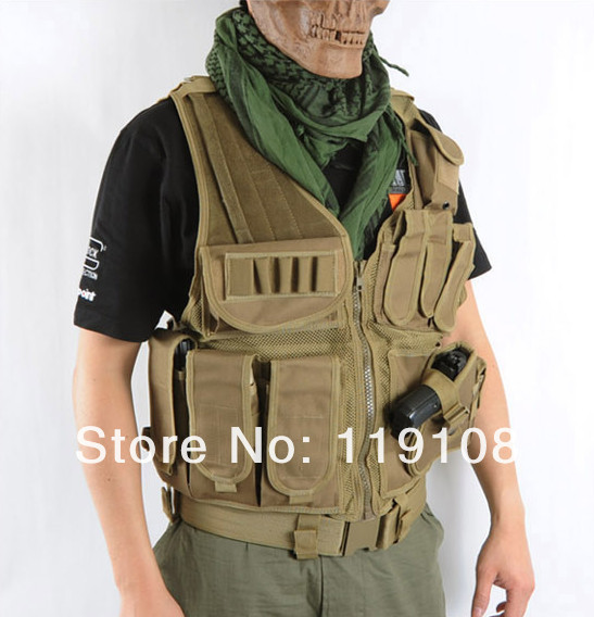 SWAT US SWAT Airsoft Tactical Hunting Combat Vest Coyote Brown