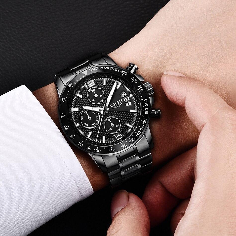HTB1VuBdSSzqK1RjSZFLq6An2XXan LIGE New Mens Watches Top Brand Luxury Stopwatch Sport waterproof Quartz Watch Man Fashion Business Clock relogio masculino+Box