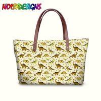 New Designer Women Handbag Tyrannosaurus Dinosaurs Printing Top handle Bags For Ladies High Quality Tote Purse Feniminas Bolsos