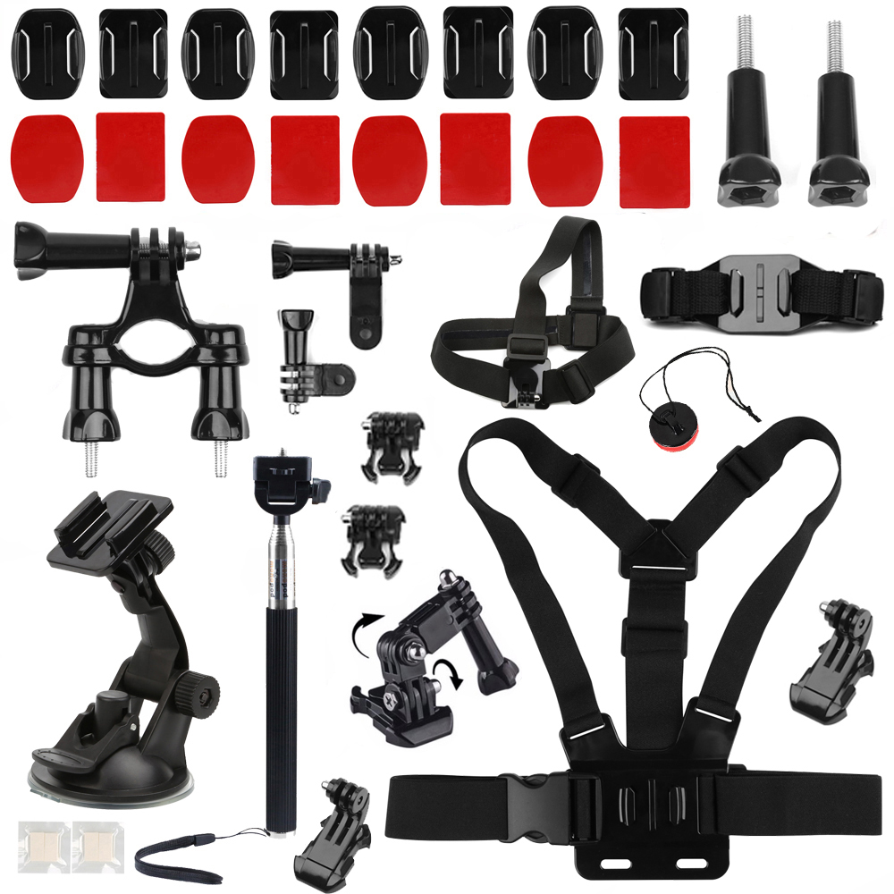 SHOOT for GoPro Accessories Set for Go Pro Hero 5 6 4 3 Xiaomi Yi 4K Lite SJCAM SJ4000 SJ7 SJ6 Eken H9 H8 Accessory Camera Mount цена