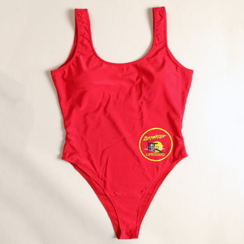 BFUSTYLE Classic USA BAYWATCH Swimsuit Women Sexy Red Bathing Suit One Piece Bather Swimwear Thong Swimming Suits 1
