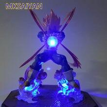 La bola del dragón del Anime figura de acción de Vegeta Super Saiyan juguetes con luz Led Kamehameha luz DBZ de Goku coleccionista modelo muñeca, regalo de juguetes, Figma